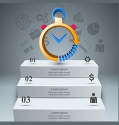 smartwatch clock watch alarm icon abstract vector image