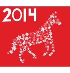 snow horse vector image