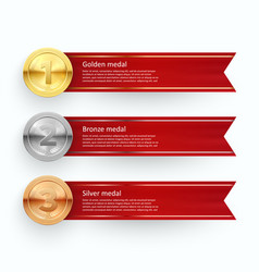 sport competition medals banner templates vector image