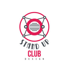 Stand up club logo design on a vector