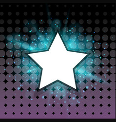 star frame with blue light in background vector image