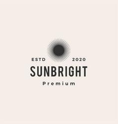 sun bright hipster vintage logo icon vector image