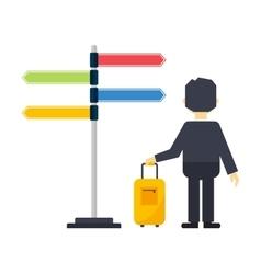 Travel man vector image