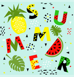 trendy seamless memphis style watermelon and vector image