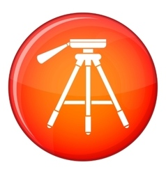 Tripod icon flat style vector image