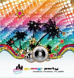 Tropical dance disco flyer vector