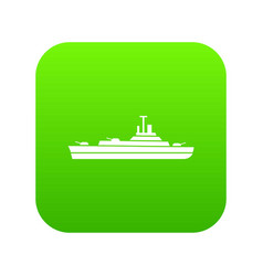 Warship icon digital green vector