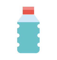 water plastic bottle to drink and healthy vector image