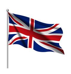 Waving flag of united kingdom state vector