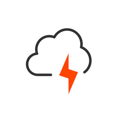 weather icon flat style for graphic and web vector image