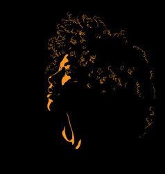 woman portrait silhouette in contrast backlight vector image