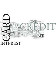 zero percent credit cards text word cloud concept vector image