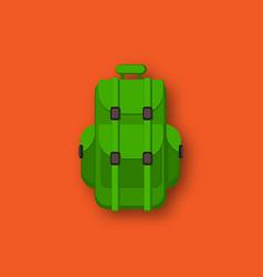 camping backpack flat cartoon vector image
