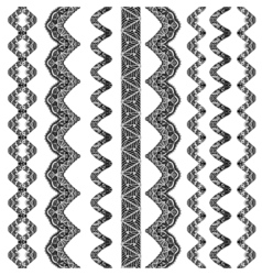 Collection of hand drawn line borders vector image