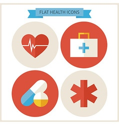 Flat Health Website Icons Set vector image vector image