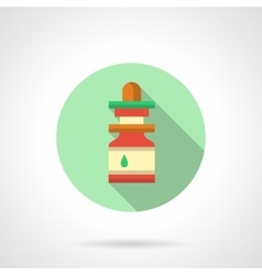 Nasal drops flat color design icon vector image