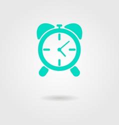 alarm clock icon with shadow vector image