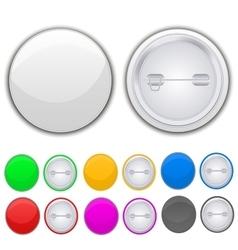 Blank badge vector image vector image