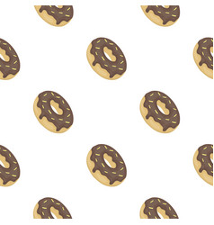 donut icon in cartoon style isolated on white vector image vector image