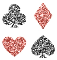 Leaf Playing Card vector image