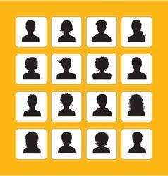 Men and women avatars vector image vector image