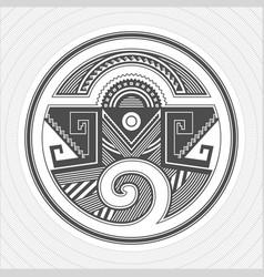 north america pueblo indians graphic art tattoo vector image vector image