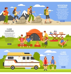 Outdoor Climbing Banners Set vector image vector image