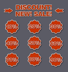 adverising discount labels vector image