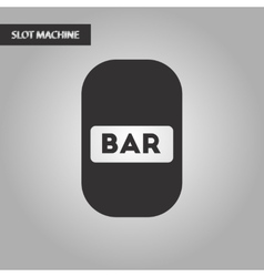 black and white style bar sign vector image