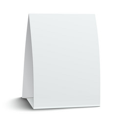 Blank paper table card vector image vector image
