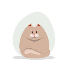 cute fatty cat vector image