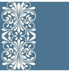 Floral pattern for invitation card vector image