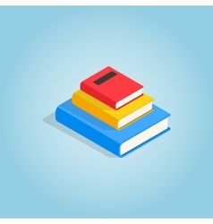 Three books on each other icon isometric 3d style vector image