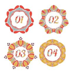 Vintage label options with floral design vector image vector image