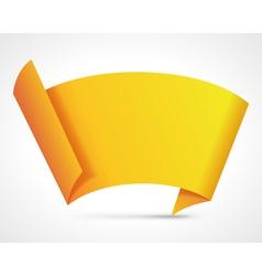 Abstract origami speech bubble vector image vector image