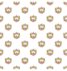 Circus ring of fire pattern vector