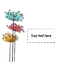 design of hand drawn doodle flowers set for your vector image vector image