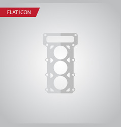 isolated gasket flat icon packing element vector image
