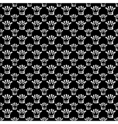 seamless pattern with crown vector image vector image