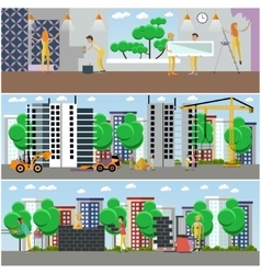 Set of construction and repairing house vector