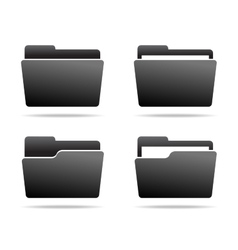 Set of Folder Icons vector image