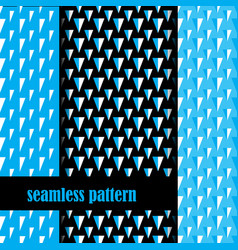 set of seamless pattern with triangle vector image vector image