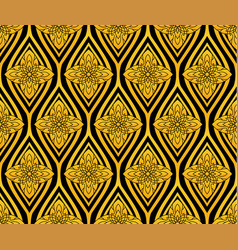 shiny lotus flower pattern in thai style vector image