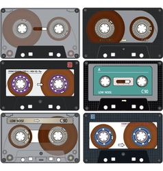The complete set of the different Audio Cassettes vector image