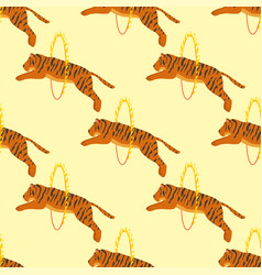 tiger action wildlife animal danger circus vector image