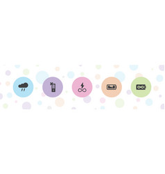 5 charge icons vector