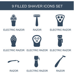 9 shaver icons vector