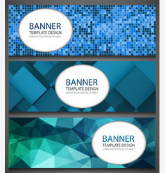 Abstract banners set with different patterns vector
