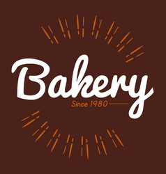Bakery brown background 1980 vector