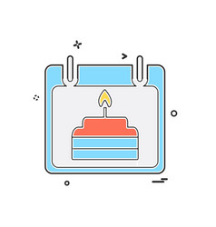 birthday calender icon design vector image